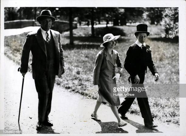 Fourth of June Celebrations at Eton Lord Carnarvon with his son and daughter Lady Penelope Herbert and Lord Porchester FOX JUNE 4th 38 11 Eton