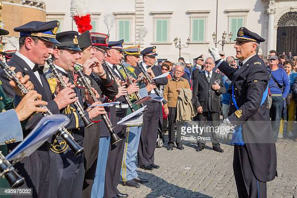 Fourth of November National Unity and Armed Forces Day The band of Armed forces give the homage at Quirinale Square in Rome during the Armed Forces...
