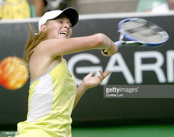Fourth seed Maria Sharapova got a scare at the Australian Open today loosing the first set to unseeded American Lindsay LeeWaters but won the match...