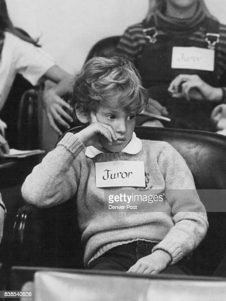 FourthGrader David Frankel Listens To Testimony He alone held out for acquittal on murder charge on first ballot Credit Denver Post Inc