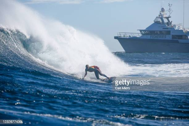 Four-time WSL Champion Caissa Moore of Hawaii surfing in Heat 5 of Round 3 of the Boost Mobile Margaret River Pro presented by Corona on May 4, 2021...