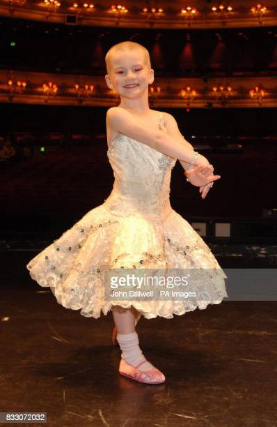 Fouryearold Angelina Vidler of Shoeburyness Essex fulfils her dream of being a ballerina for the day at the Royal Opera House in central London