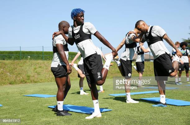 Fousenni Diabate during the Leicester City preseason training camp on July 09 2018 in Evian France
