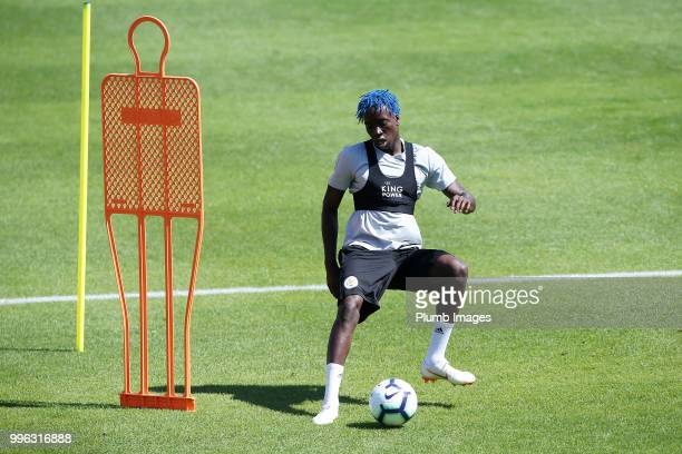 Fousenni Diabate during the Leicester City preseason training camp on July 11 2018 in Evian France