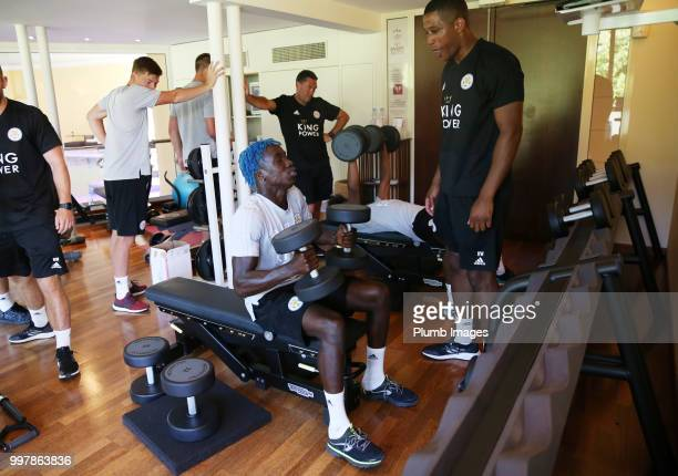 Fousenni Diabate during the Leicester City preseason training camp on July 13 2018 in Evian France