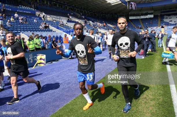 Fousseni Diabate and Yohan Benalouane of Leicester City during Alan Birchenall's 38th annual charity run ahead of the Premier League match between...