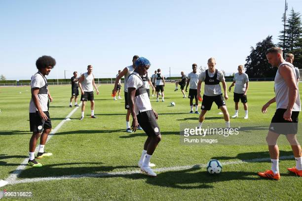 Fousseni Diabate during the Leicester City preseason training camp on July 11 2018 in Evian France