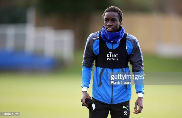 Fousseni Diabate during the Leicester City training session at Belvoir Drive Training Complex on February 02 2018 in Leicester United Kingdom
