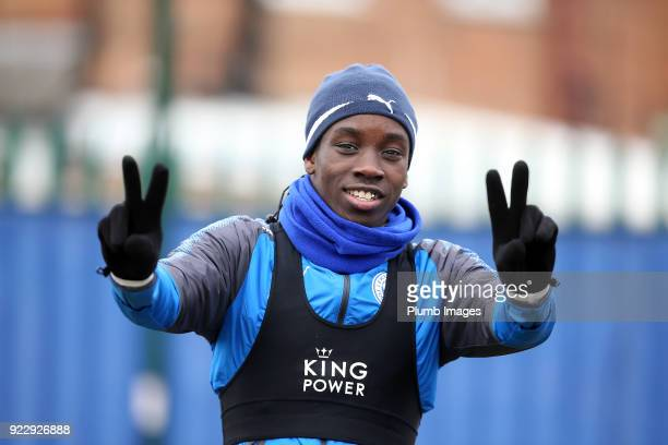 Fousseni Diabate during the Leicester City training session at Belvoir Drive Training Complex on February 22nd 2018 in Leicester United Kingdom