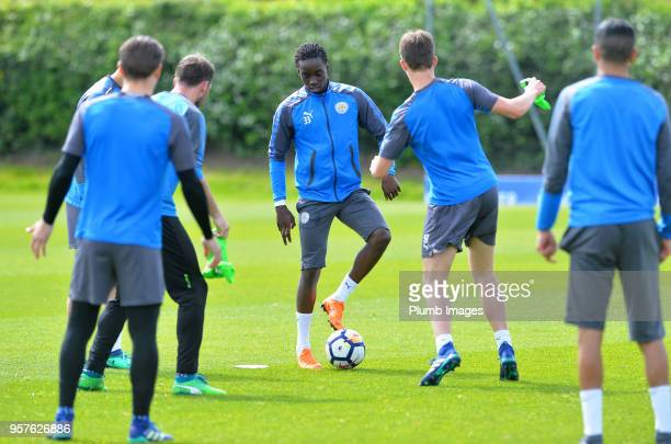 Fousseni Diabate during the Leicester City training session at Belvoir Drive Training Complex on May 12 2018 in Leicester United Kingdom