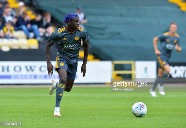 Fousseni Diabate of Leicester City controls the ball during the preseason friendly match between Notts County and Leicester City at Meadow Lane on...