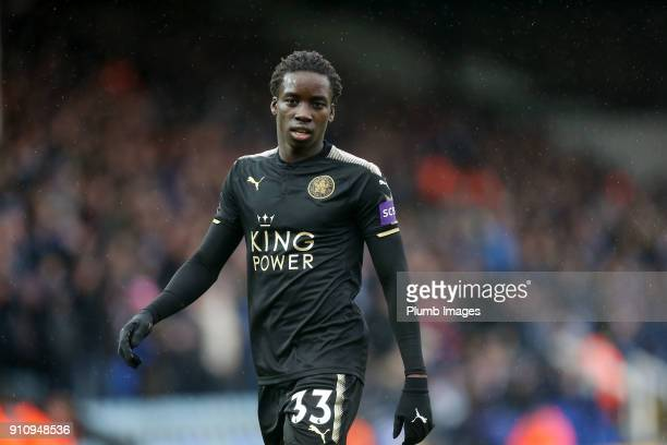 Fousseni Diabate of Leicester City during The Emirates FA Cup Fourth Round tie between Peterborough United and Leicester City at ABAX Stadium on...