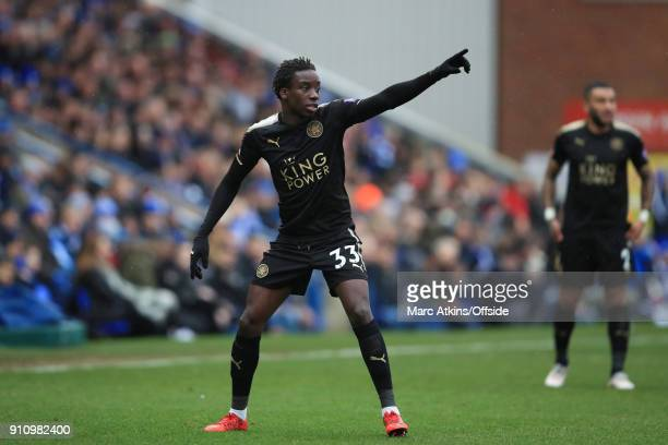 Fousseni Diabate of Leicester City during the FA Cup 4th Round match between Peterborough United and Leicester City at ABAX Stadium on January 27...