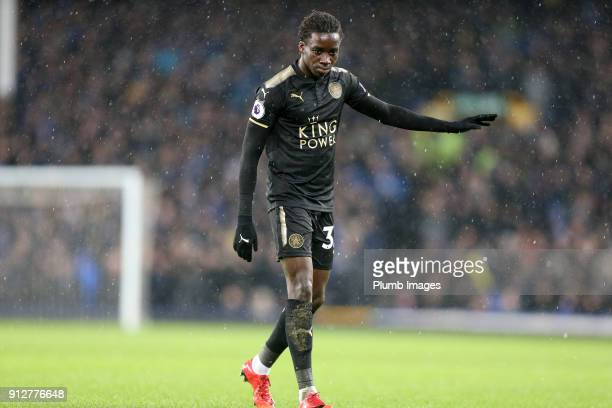 Fousseni Diabate of Leicester City during the Premier League match between Everton and Leicester City at Goodison Park on January 31st 2018 in...