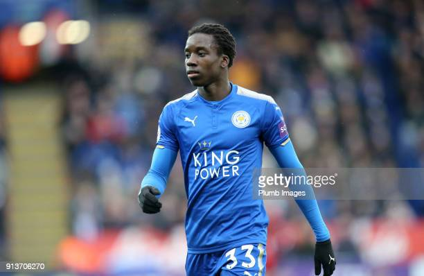 Fousseni Diabate of Leicester City during the Premier League match between Leicester City and Swansea City at King Power Stadium on February 3rd 2018...