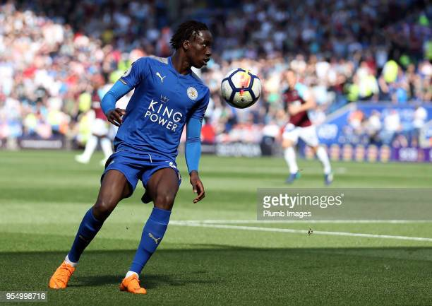 Fousseni Diabate of Leicester City during the Premier League match between Leicester City and West Ham United at King Power Stadium on May 5th 2018...