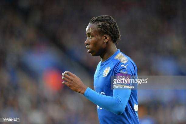 Fousseni Diabate of Leicester City during the Premier League match between Leicester City and Arsenal at King Power Stadium on May 9th 2018 in...