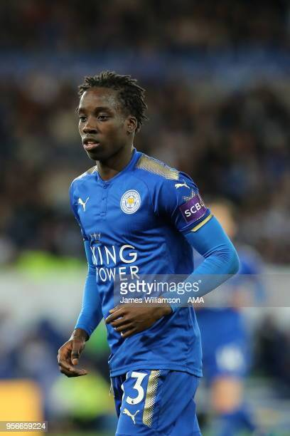Fousseni Diabate of Leicester City during the Premier League match between Leicester City and Arsenal at The King Power Stadium on May 9 2018 in...