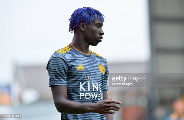 Fousseni Diabate of Leicester City looks on during the preseason friendly match between Notts County and Leicester City at Meadow Lane on July 21st...