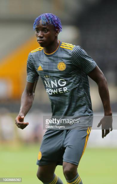 Fousseni Diabate of Leicester City looks on durng the preseason friendly match between Notts County and Leicester City at Meadow Lane on July 21 2018...