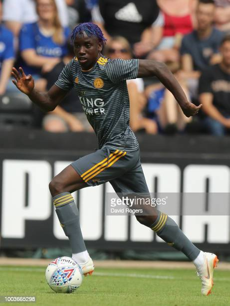 Fousseni Diabate of Leicester City runs with the ball durng the preseason friendly match between Notts County and Leicester City at Meadow Lane on...