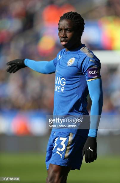 Fousseni Diabate of Leicester during the Premier League match between Leicester City and Stoke City at The King Power Stadium on February 24 2018 in...