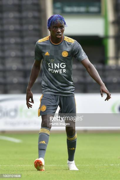 Fousseni Diabate of Leiceter City during the Preseason friendly match between Notts County and Leicester City at Meadow Lane on July 21st 2018 in...
