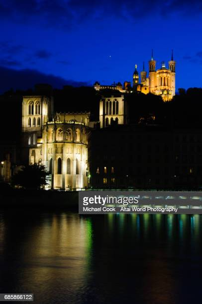 fouviere at night - michael stock photos and pictures