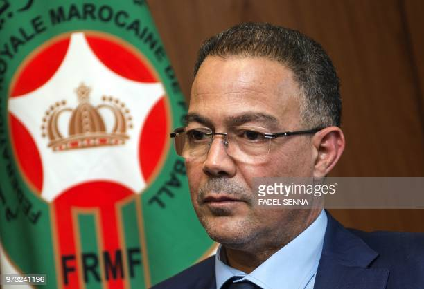 Fouzi Lekjaa President of Morocco's Royal Football Federation pictured during an interview on June 7 in the capital Rabat The award on June 13 of the...