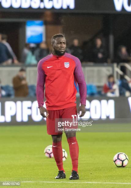 S foward Jozy Altidore warms up during the FIFA World Cup Qualifier between the US Men's National team and the Honduras team at Avaya Stadium on...