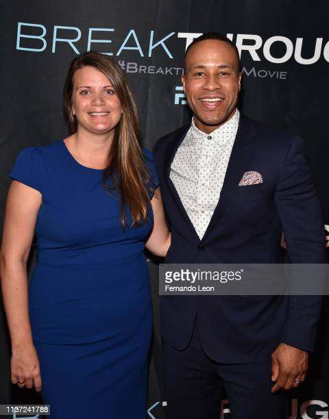 Fox 2000 EVP of production Marisa Paiva and producer DeVon Franklin attend the premiere of 'Breakthrough' at the Marcus Des Peres Cinema on March 20...