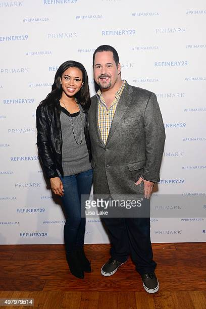 Fox 29 news anchor Alex Holley and Geno Cheesesteak owner Geno Vento attend The Keke Palmer Refinery29 Host Club Primania Event at Skybox Event...