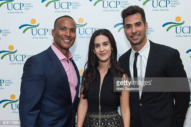 Fox 5 Meteorologist Mike Woods Social Media Writer/Blogger Natalie Zfat and Photographer Javier Gomez attend the 7th Annual UCP Of NYC Santa Project...