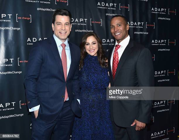 Fox 5 news anchor Steve Lacy Fox CoAnchor of 'Good Day Wake Up' Teresa Priolo and Fox 5 Meteorologist Mike Woods attend UCP of NYC 70th Anniversary...