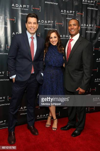 Fox 5 news anchor Steve Lacy Fox CoAnchor of 'Good Day Wake Up' Teresa Priolo and Fox 5 Meteorologist Mike Woods attend the UCP of NYC 70th...