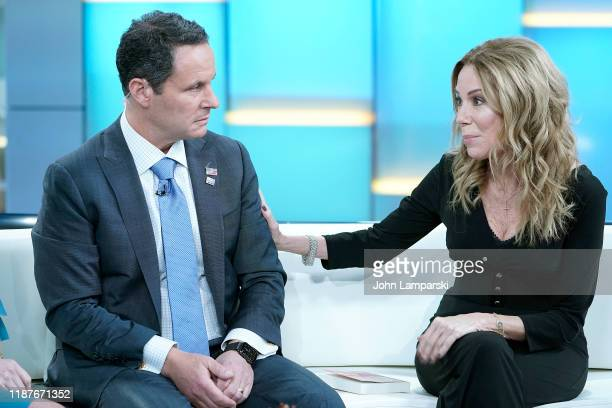 "Fox anchor Brian Kilmeade interviews Kathie Lee Gifford during ""Fox & Friends"" at Fox News Channel Studios on November 14, 2019 in New York City."