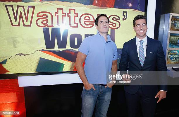 Fox Anchor Jesse Watters interviews Mark Cuban during Fox News Channel's Watters' World at FOX Studios on June 9 2016 in New York City