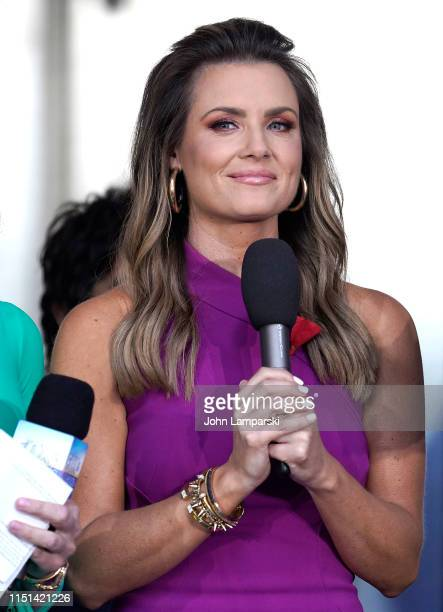 Fox Anchor Jillian Mele joins Gavin DeGraw as he performs on FOX News Channel's FOX Friends AllAmerican Summer Concert Series on May 24 2019 in New...