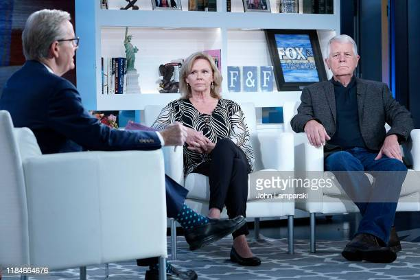 Fox anchor Steve Doocy interviews Marsha Mueller and Carl Mueller parents of hostage Kayla Mueller who was slain by ISIS during Fox Friends at Fox...