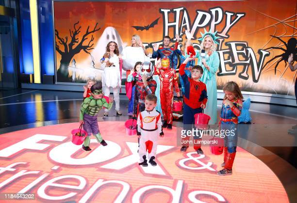 Fox anchors Jedediah Bila Carley Shimkus Pete Hegseth Jennifer Rauchet Janice Dean and children partecipate in Fox Friends Halloween Celebration at...