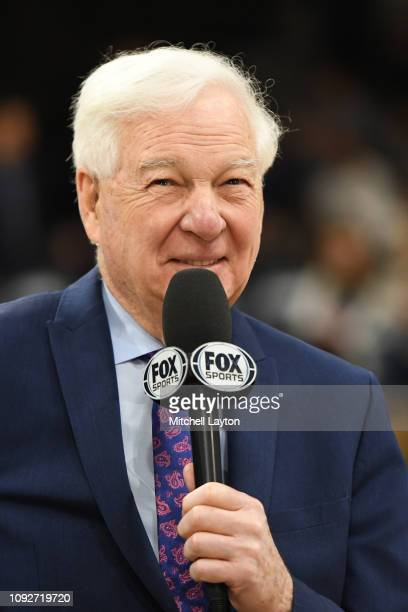Fox announcer Bill Raftery on the air before a college basketball game between the St John's Red Storm and the Villanova Wildcats at the Finneran...