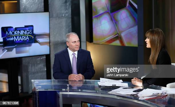 Fox Business Network anchor Dagen McDowell interviews United States House of Representatives Majority Whip and US Rep Steve Scalise during Mornings...