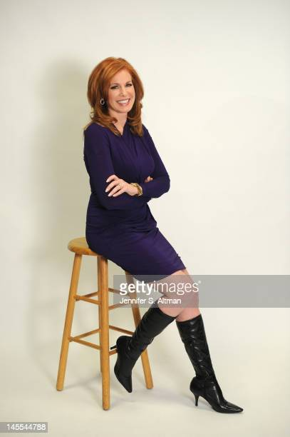 Fox Business News Anchor Liz Claman is photographed for Boston Globe on January 31 2012 in New York City PUBLISHED IMAGE