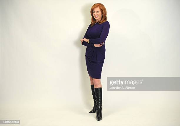 Fox Business News Anchor Liz Claman is photographed for Boston Globe on January 31 2012 in New York City
