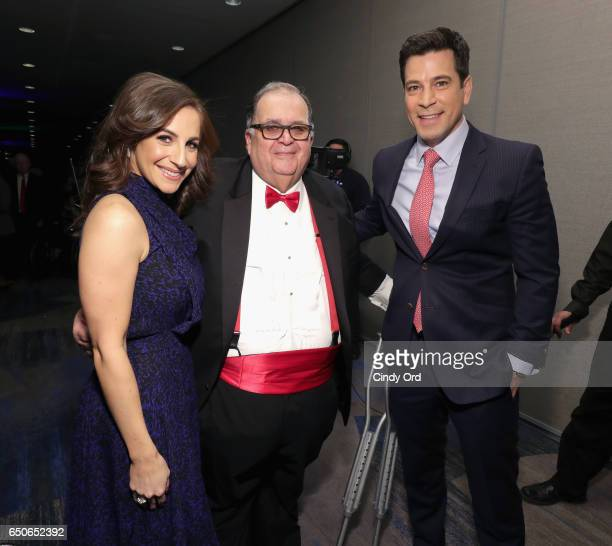 Fox CoAnchor of 'Good Day Wake Up' Teresa Priolo CEO of United Cerebral Palsy of New York City Edward R Matthews and Fox 5 news anchor Steve Lacy...