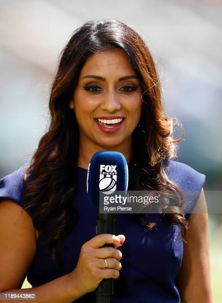 Fox Cricket commentator Isa Guha during day three of the 1st Domain Test between Australia and Pakistan at The Gabba on November 23 2019 in Brisbane...