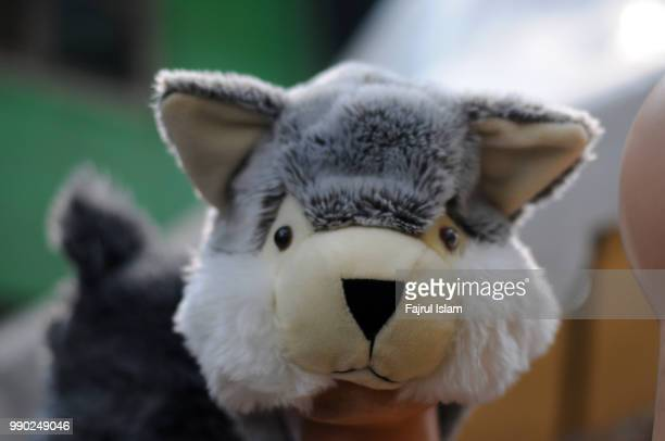 fox doll or fox hat - dolly fox stock pictures, royalty-free photos & images