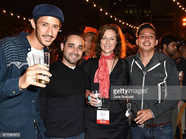 Fox Fellows Sean Ludan Carlos Garza Marilyn Chambers and Ryan Velasquez attend the Fellows Party during the 2015 Los Angeles Film Festival at Target...