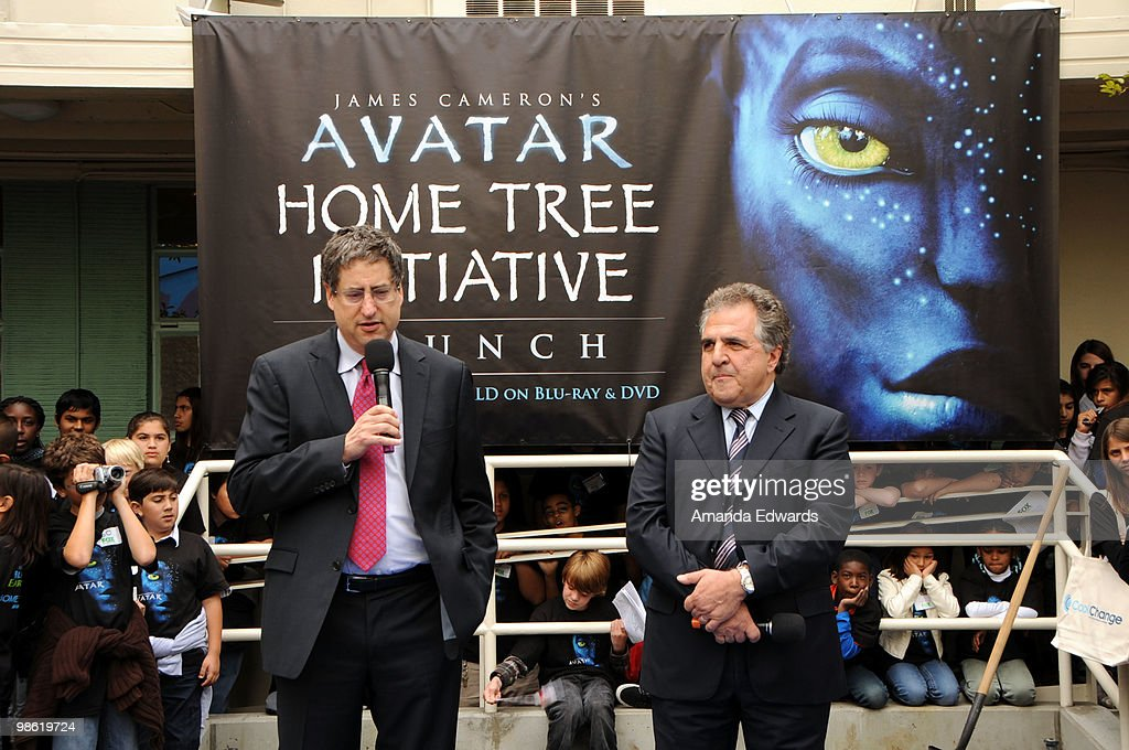 Fox Film Entertainment co- Chairmen and CEO's Tom Rothman (L) and Jim Gianopulos (R) attend the 20th Century Fox & Earth Day Network's 'Avatar' Tree Planting Event on April 22, 2010 in Los Angeles, California.