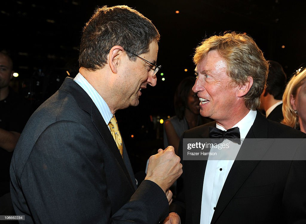 Fox Filmed Entertainment Co-chairman and CEO Tom Rothman and Chairman of BAFTA Los Angeles Nigel Lythgoe arrive at the BAFTA Los Angeles 2010 Britannia Awards held at the Hyatt Regency Century Plaza on November 4, 2010 in Century City, California. The BAFTA Los Angeles 2010 Brittania Awards will be aired on the TV Guide Channel on November 7th, 2010.